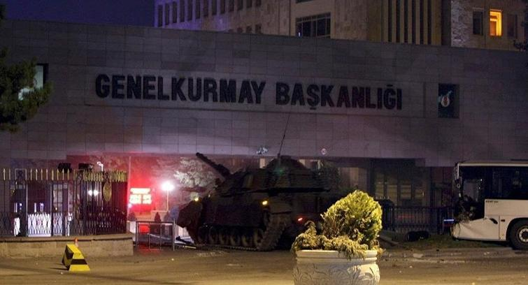 Turkish Army Headquarters in Ankara under siege during the coup attempt. Photograph: http://www.cumhuriyet.com.tr/