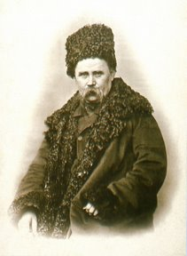 1859 photograph of Shevchenko by the photographer A. H. Danier - one of the most well-known and popular depictions of the poet